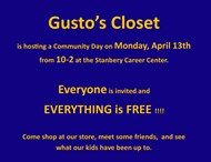 Communit Day hosted by Gusto's Closet 4/13/20