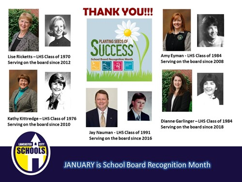 School Board Recognition Jan. 2020