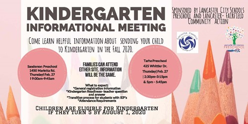 Kindergarten Meeting Information