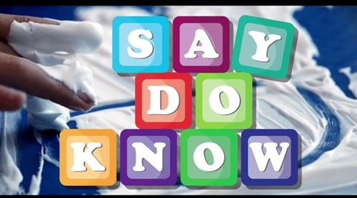 Say Do Know - Phrase
