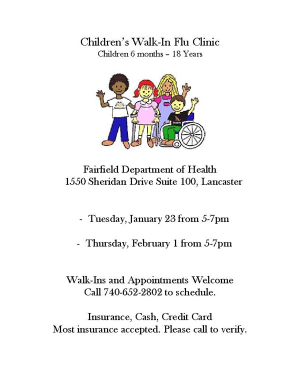 Children's Walk-In Flu Clinic Information