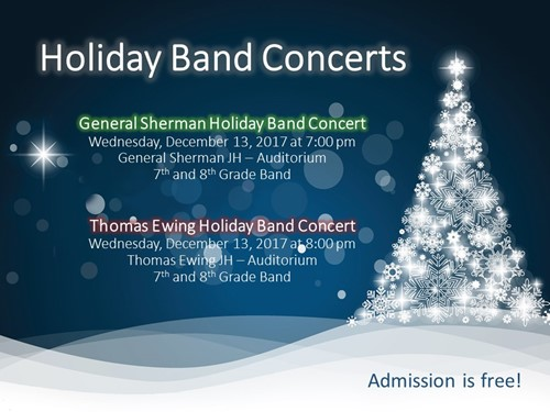 Holiday Band Concerts 2017