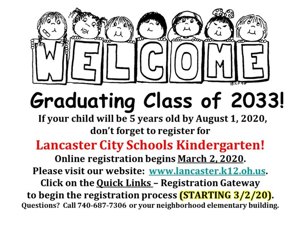 Kindergarten Registration Information 2020