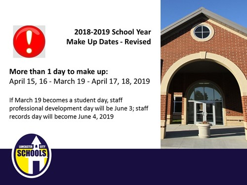 Make Up Dates for 2018-2019 revised