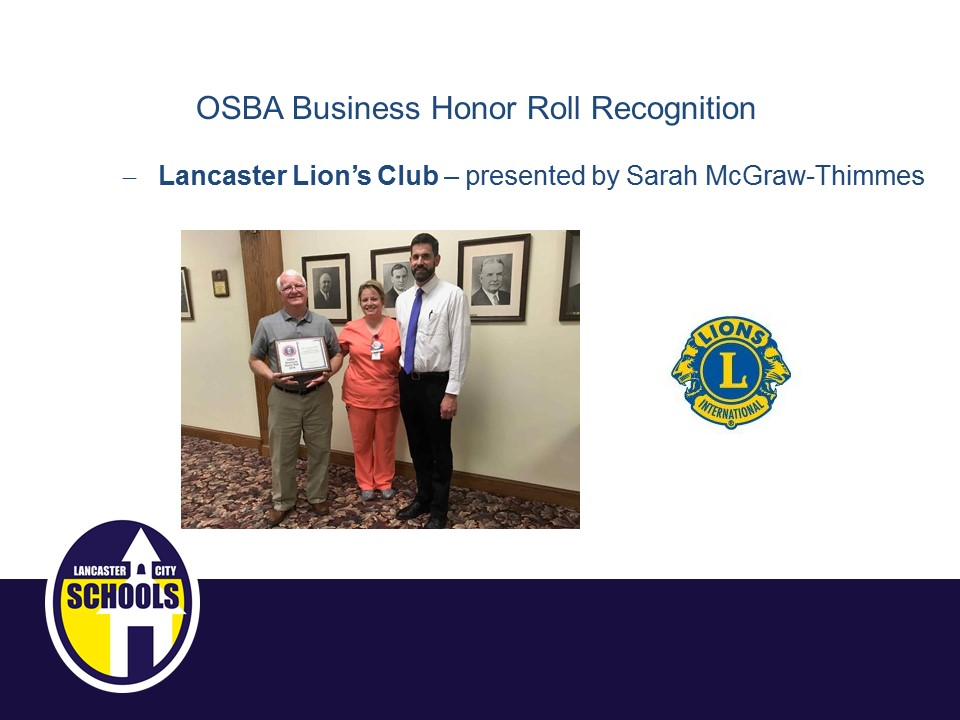 OSBA Honor Roll Recognitions - Lancaster Lion's Club