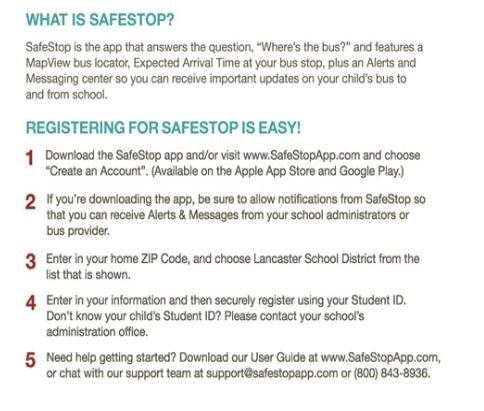 SAFESTOP signup instructions