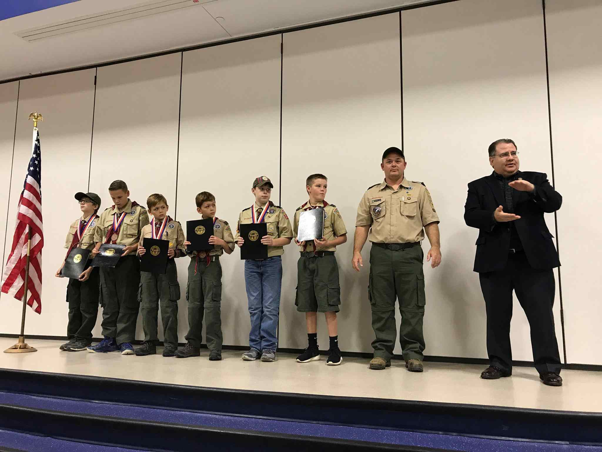 Tarhe's Cub Scout Pack 240 earns Charles H. Townes Supernova Award