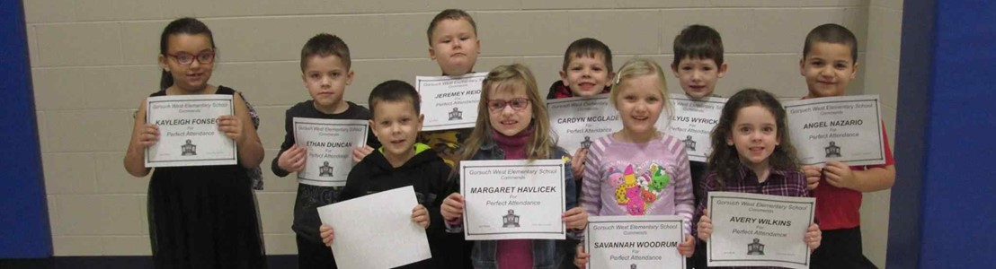 Gorsuch West Kindergarten students
