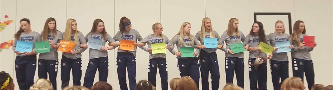 Lady Gales Basketball students visit Gorsuch West Elementary