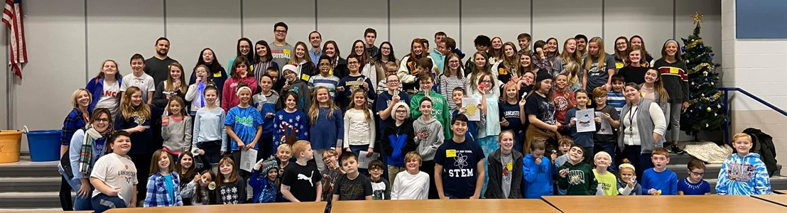Biomedical Science students from LHS visited Medill GALES students 3rd and 5th grade - December 2019