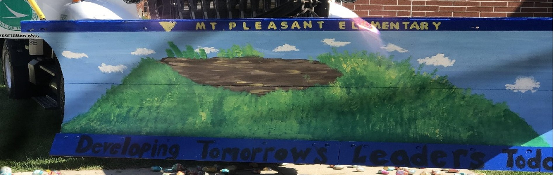Mt. Pleasant students painted ODOT Truck Snow Blades